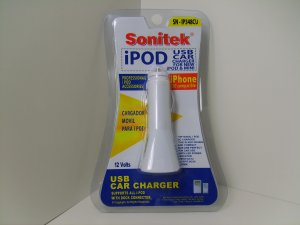 iPod iPhone Accessories USB 12 Volts Car Charger w/ LED Indicator