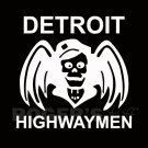 White Vinyl Detroit Highwaymen Decal Sticker
