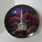 Franklin Mint Chapel Visitors 8 Inch Porcelain Plate