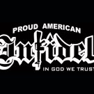 White Vinyl Window Proud American Infidel Decal Sticker