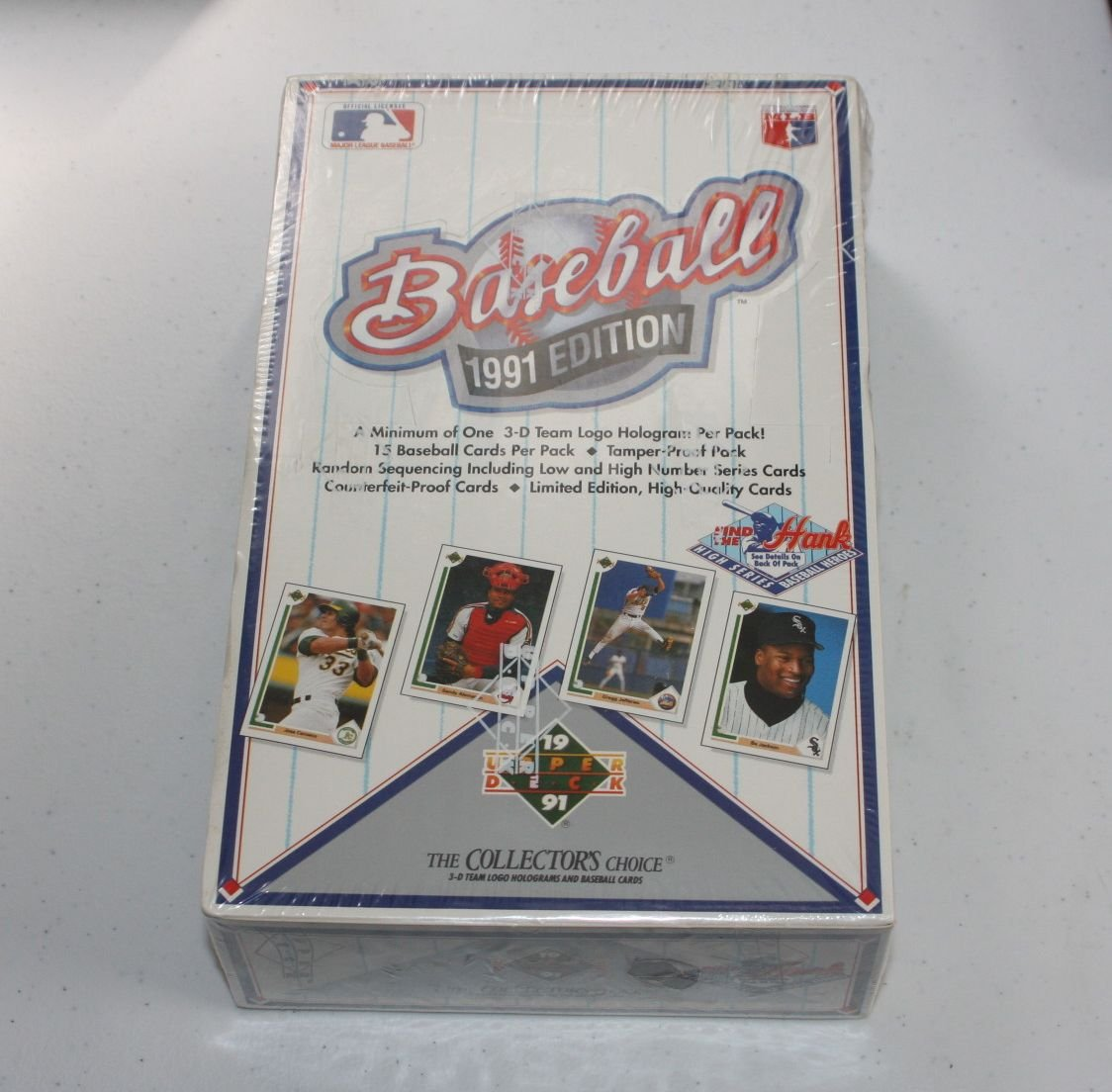 Upper Deck Collectors Choice 1991 Baseball High Series Sealed Box