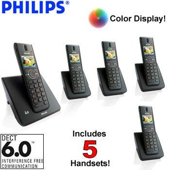 Philips 5-Handset Cordless Phone System