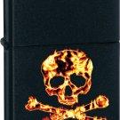 Zippo Lighter - Flaming Skull & Crossbones
