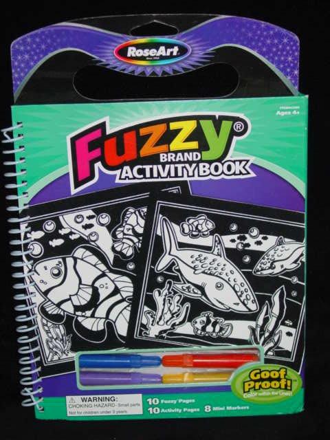 RoseArt Fuzzy Travel Brand Activity Book (Sealife)