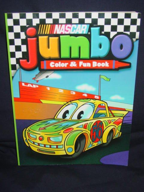 Nascar Jumbo Color & Fun Book