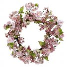 24 Inch Cherry Blossom Wreath