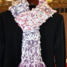 Soft & Bright White/Purple/Pink Scarf
