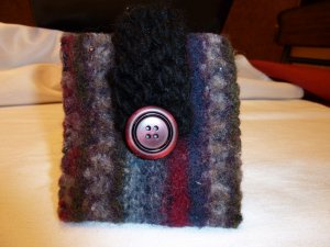 Felted Stripe Smart Phone Pouch