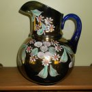 Vintage Northwood Carnival Glass Pitcher Enameled Cherries