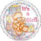18 Inch Mylar Its a Girl Teddy Bear Balloon