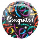 18 Inch Mylar Congrats Streamer Balloon