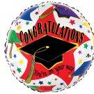 18 Inch Mylar Congratulations Graduation Cap Balloon
