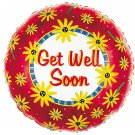 18 Inch Mylar Get Well Soon Balloon