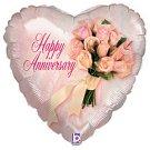 Happy Anniversary Bouquet Balloon 18 Inch Mylar