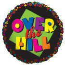 Over the Hill Bright Colors Balloon 18 Inch Foil
