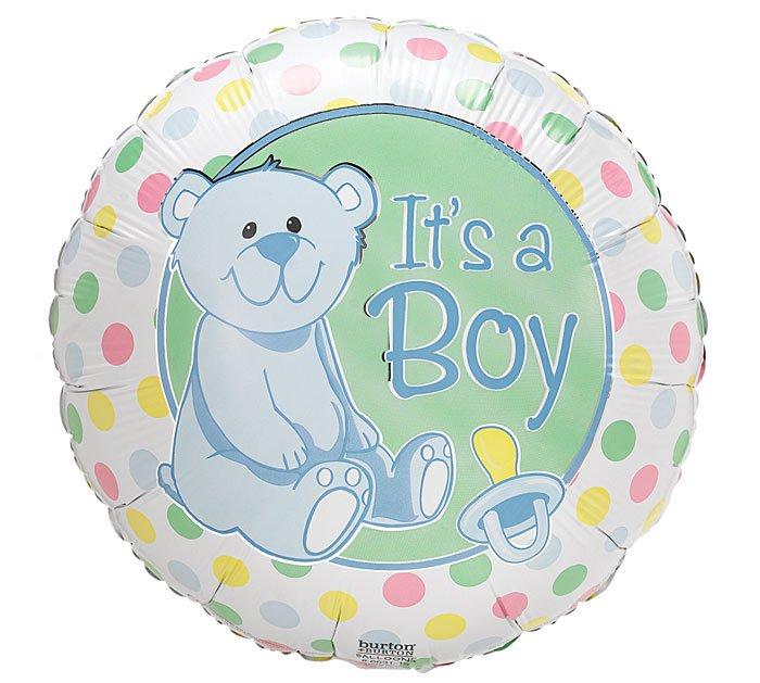 Baby Darlin Dots Its a Boy Balloon 18 Inch Mylar
