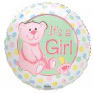 Baby Darlin Dots Its a Girl Balloon 18 Inch Mylar