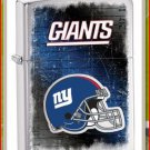 NFL Personalized Brushed Chrome Zippo Lighter Giants