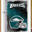 NFL Personalized Brushed Chrome Zippo Lighter Eagles