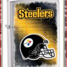 NFL Personalized Brushed Chrome Zippo Lighter Steelers