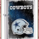 NFL Personalized Brushed Chrome Zippo Lighter Cowboys