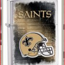 NFL Personalized Brushed Chrome Zippo Lighter Saints