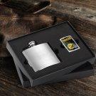 NFL Zippo Lighter and Brushed Flask Gift Set Saints