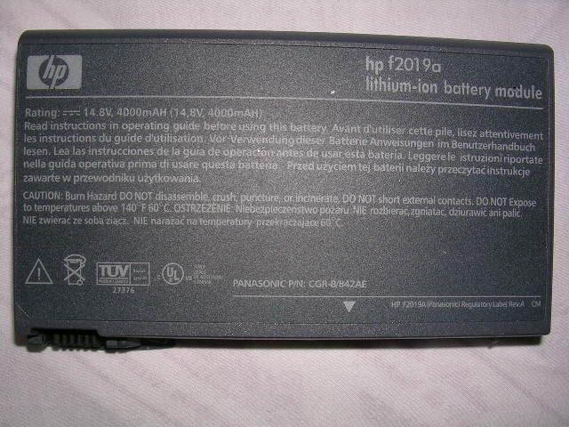 HP Omnibook 6000 6100 6200 XT6050 Battery F2019A F2019B Brand New