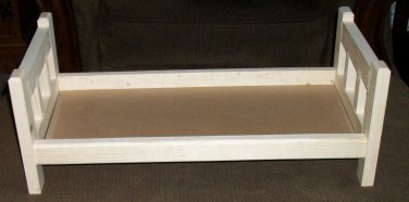 """Doll Bed For 18"""" American Girl Dolls Solid Wood Unfinished Ready to Paint"""