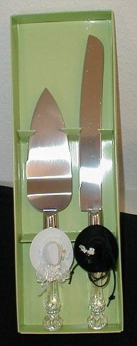 WESTERN Cowboy Wedding/Anniversary Cake Server and Knife Set
