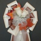 IVORY/CHOCOLATE Fall Pew Bows - Wedding