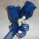 ROYAL BLUE Rose Buds Corsage - Wedding - Prom - Anniversary