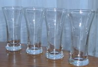Vintage Libbey Glassware Liqueor Glasses (2) Lots of Four - Fun Cut Detailing
