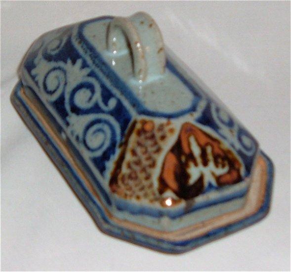 Modern Vintage Pottery Butter Dish - Salt type glaze