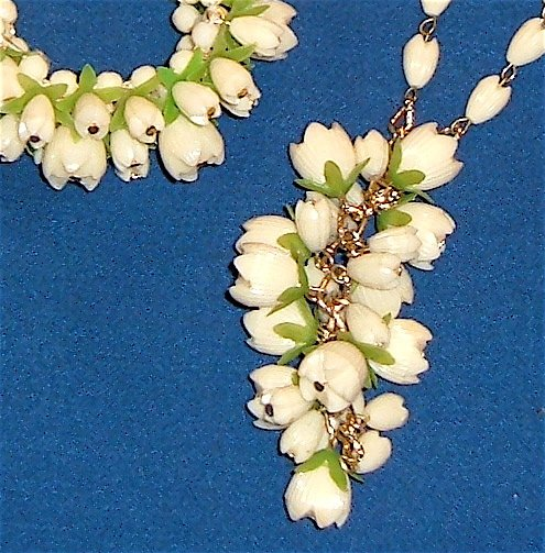 Vintage Demi Necklace And Bracelet - Plastic or Celluloid Faux Ivory