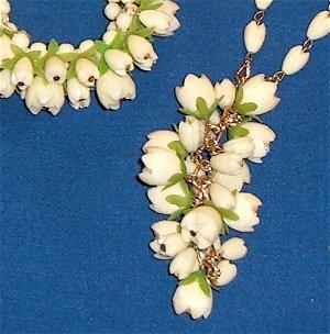 Vintage Demi Necklace And Bracelet - Plastic or Celluloid Faux Ivory