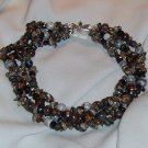 Necklace with Glass and Semi Precious Stones Free Shipping