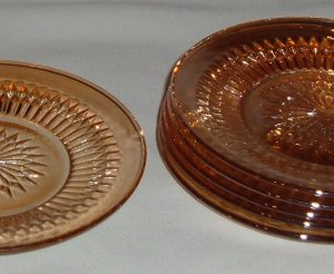 Carnival Glass Marigold Sunburst Side or Dessert Plates