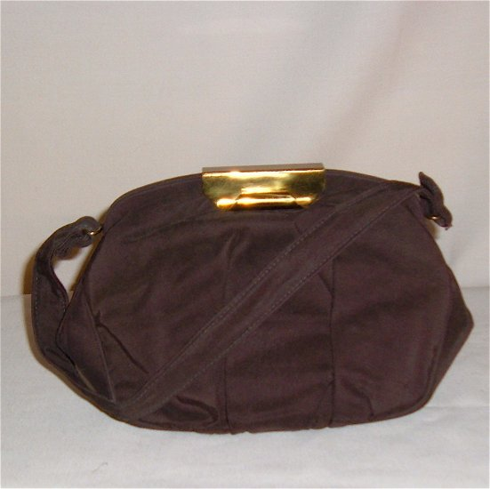 Vintage Handbag by Frilo - Brown Faille and Great Clasp