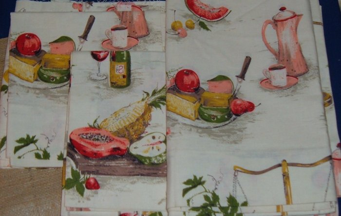 Vintage Kitchen Tiers - Fabric