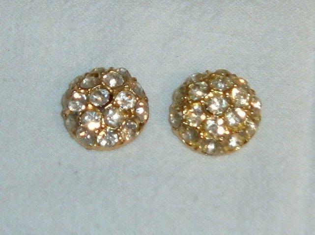 "Vintage Rhinestone Buttons - 2 pcs 7/8"""