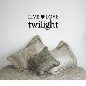 Live love twilight wall art decals home vinyl letters laugh family love quotes wall sayings