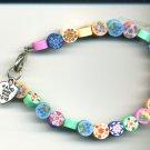 Fun Floral Polymar Clay Bracelet
