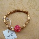 Gold And Raspberry Bracelet