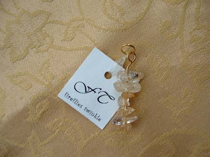 Cream Rock Candy Beaded Cell Charm