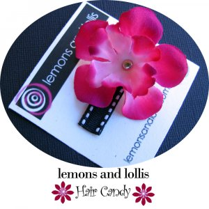 Baby Hairbow with Fuschia Flower