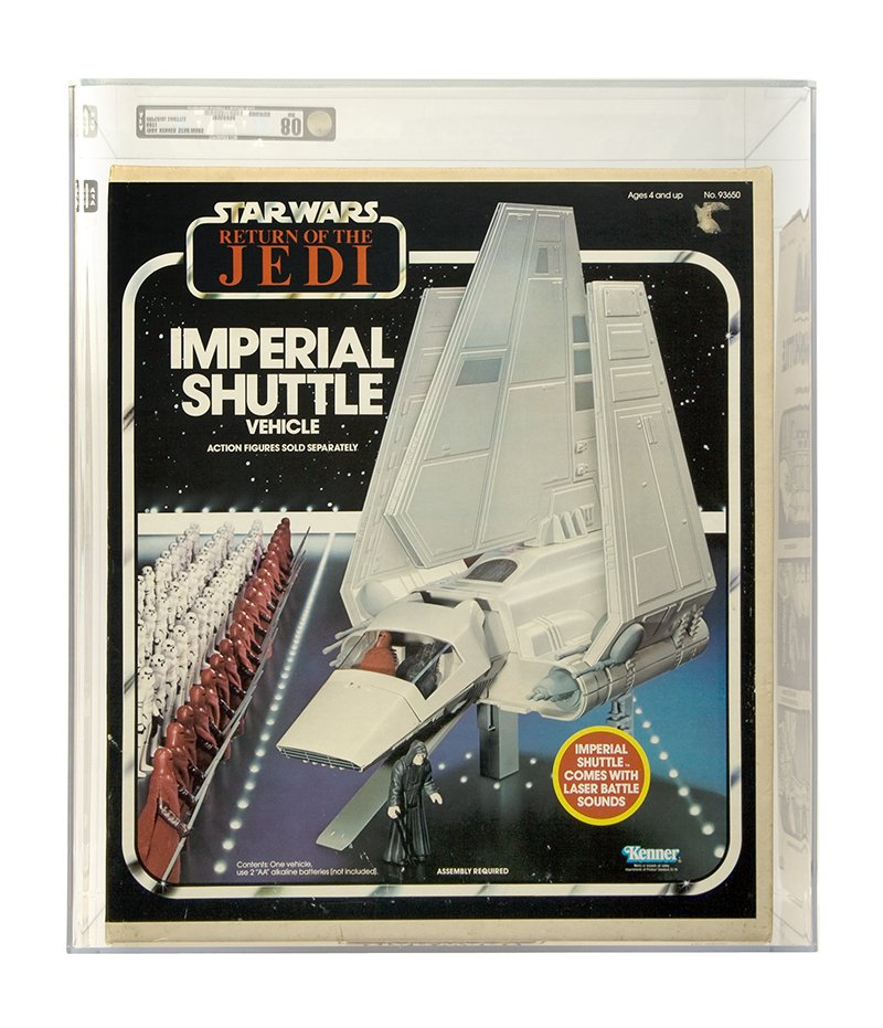 Vintage Boxed Vehicle ROTJ Imperial Shuttle AFA-Qualified 80 NM #18956899