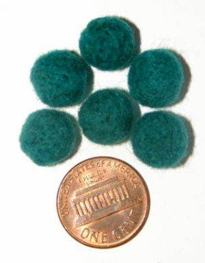Felt Beads Green 8mm