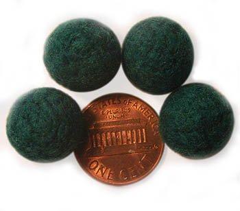 Felt Beads Green 12mm