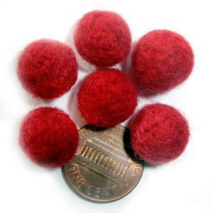 Felt Beads Red 8mm